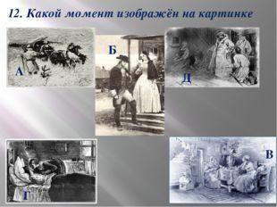 12. Какой момент изображён на картинке А Б В Г Д