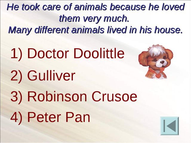 He took care of animals because he loved them very much. Many different anima...