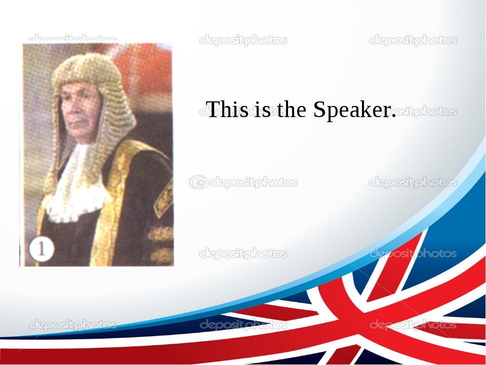 This is the Speaker.