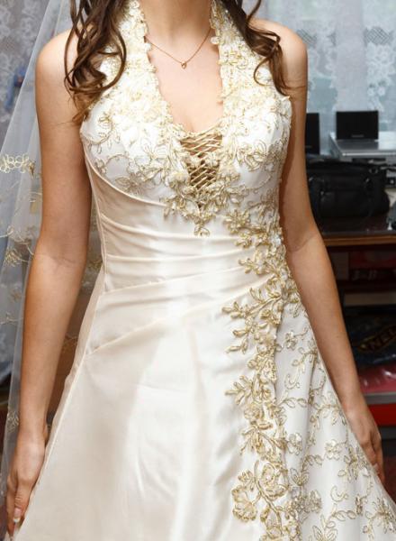 Схема вышивки бисером свадебного платья