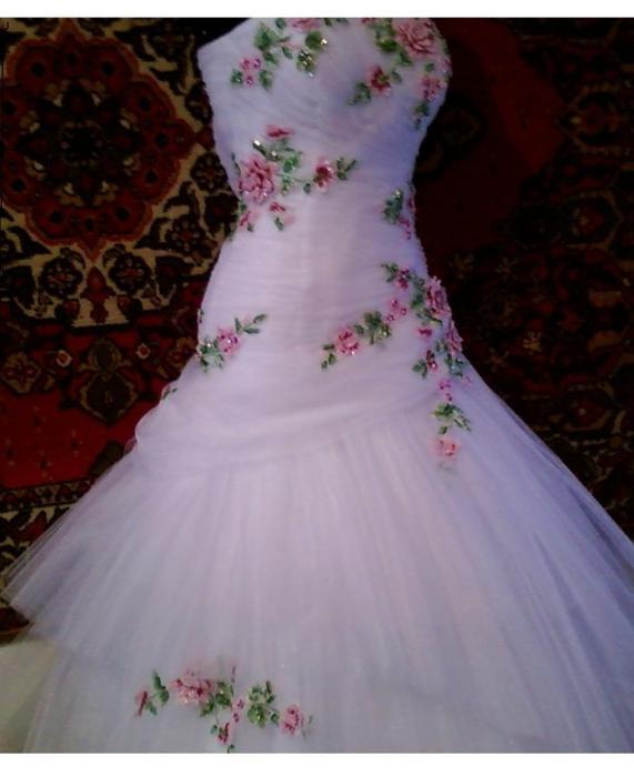 Свадебные платья вышитые бисером - Лучшие изделия из бисера только здесь