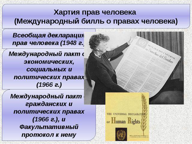 Хартия прав человека (Международный билль о правах человека) Всеобщая деклара...