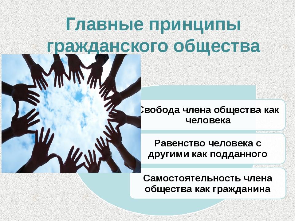 Главные принципы гражданского общества