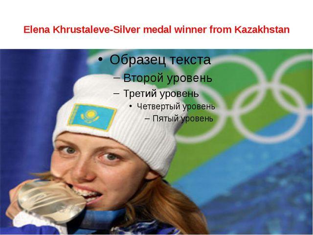 Elena Khrustaleve-Silver medal winner from Kazakhstan