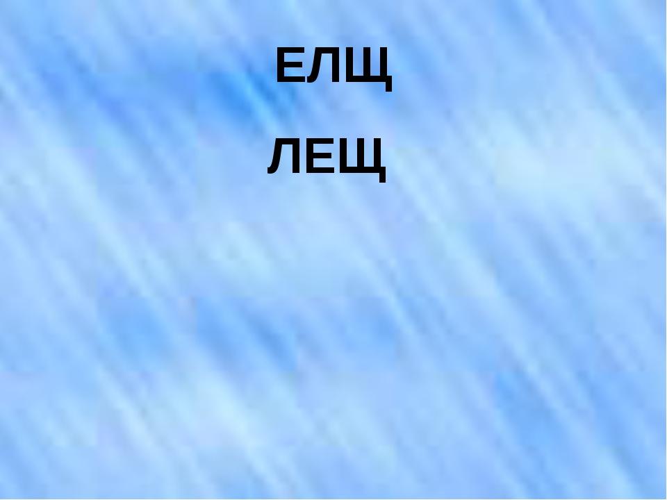 ЕЛЩ ЛЕЩ