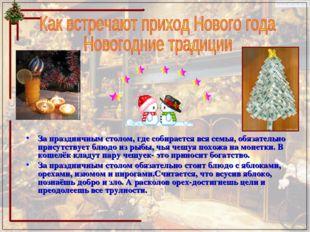 Как встречают приход Нового года Новогодние традиции За праздничным столом, г