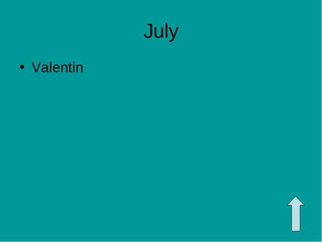 July Valentin