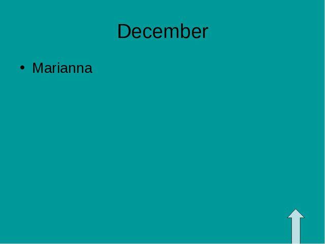 December Marianna