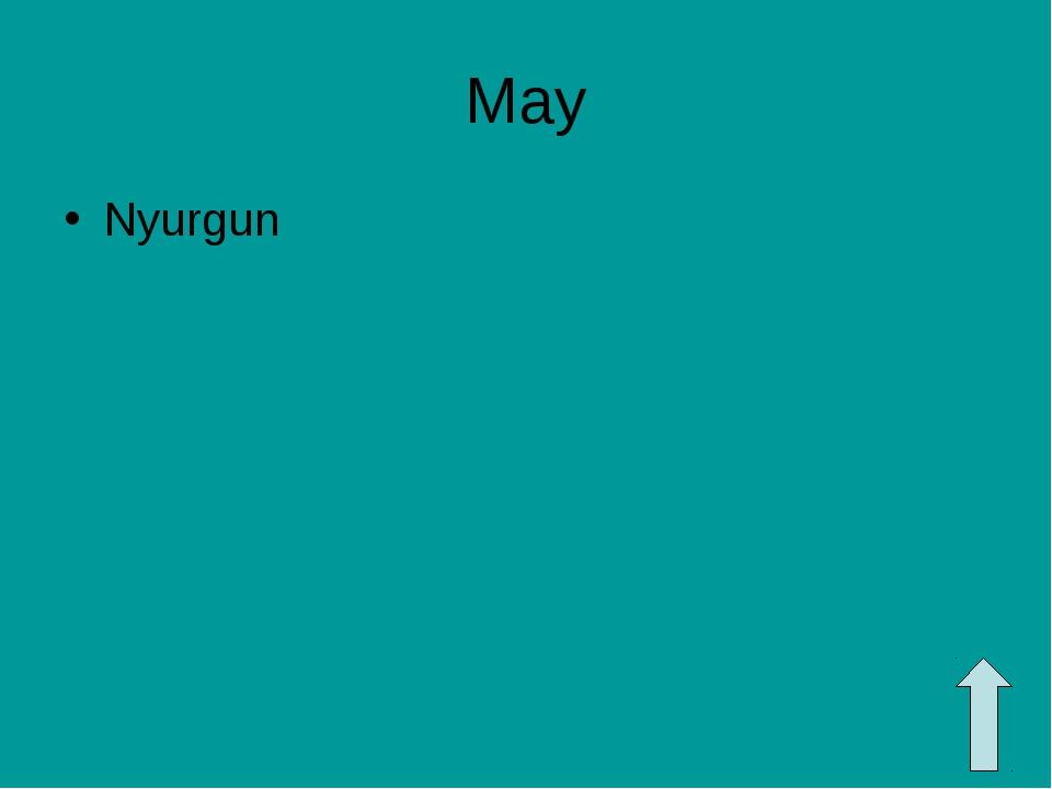 May Nyurgun