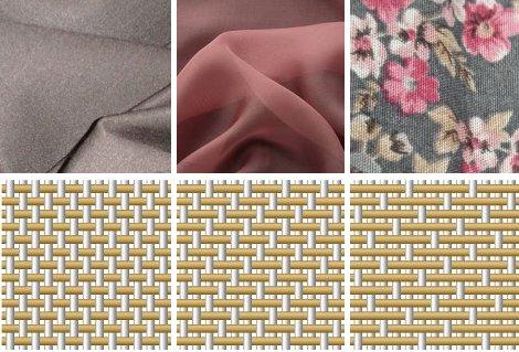 Ткани, переплетение тканей