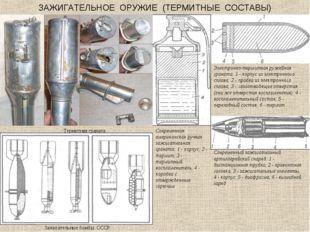 ЗАЖИГАТЕЛЬНОЕ ОРУЖИЕ (ТЕРМИТНЫЕ СОСТАВЫ) Термитная граната Зажигательные бомб