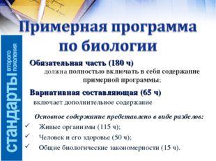 Обязательная часть (180 ч) Вариативная составляющая (65 ч) должна полностью в