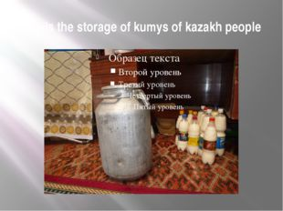 This is the storage of kumys of kazakh people