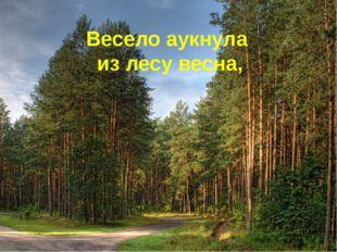 Весело аукнула из лесу весна,