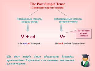 The Past Simple Tense (Прошедшее простое время) The Past Simple Tense обознач