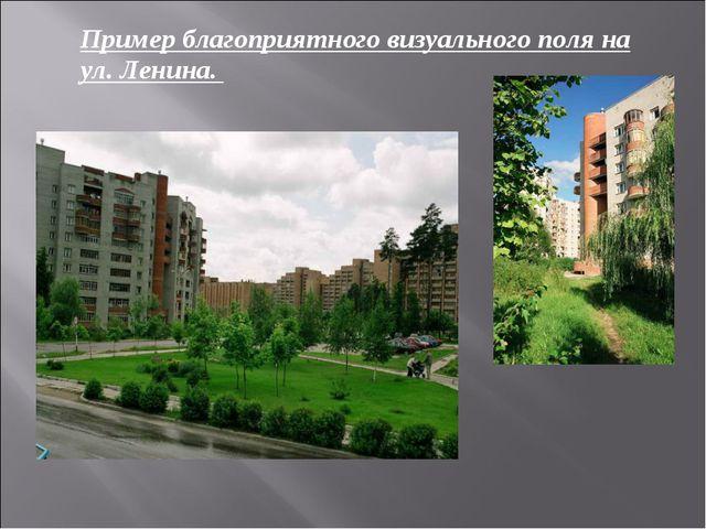 Пример благоприятного визуального поля на ул. Ленина.