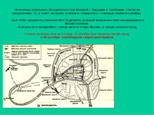 Ополченцы отказались объединиться под Москвой с Заруцким и Трубецким, считая