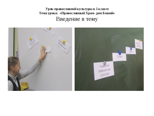 Урок православной культуры в 5 классе Тема урока: «Православный Храм- дом Бож...