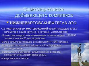 Самотлор-основа добывающего комплекса НИЖНЕВАРТОВСКНЕФТЕГАЗ-ЭТО -12 нефтегазо
