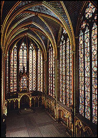 Витражные окна часовни Сент_Шапель