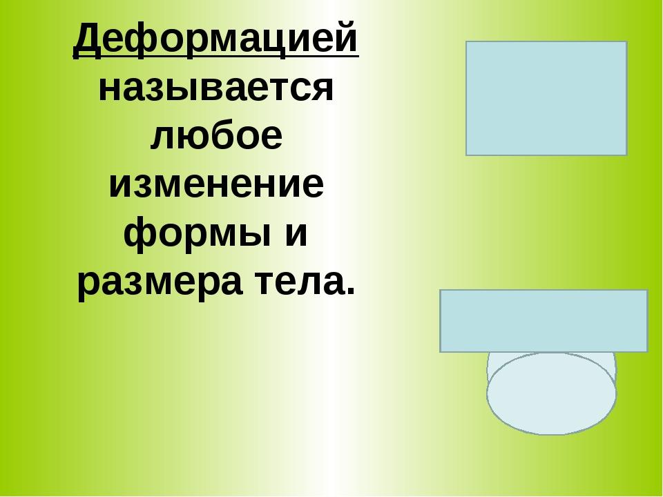 Деформацией называется любое изменение формы и размера тела.