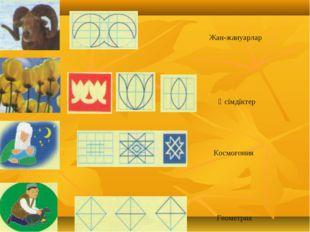 Жан-жануарлар Өсімдіктер Космогония Геометрия