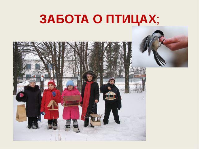 ЗАБОТА О ПТИЦАХ;