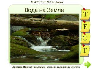Вода на Земле Анохина Ирина Николаевна, учитель начальных классов МБОУ СОШ №