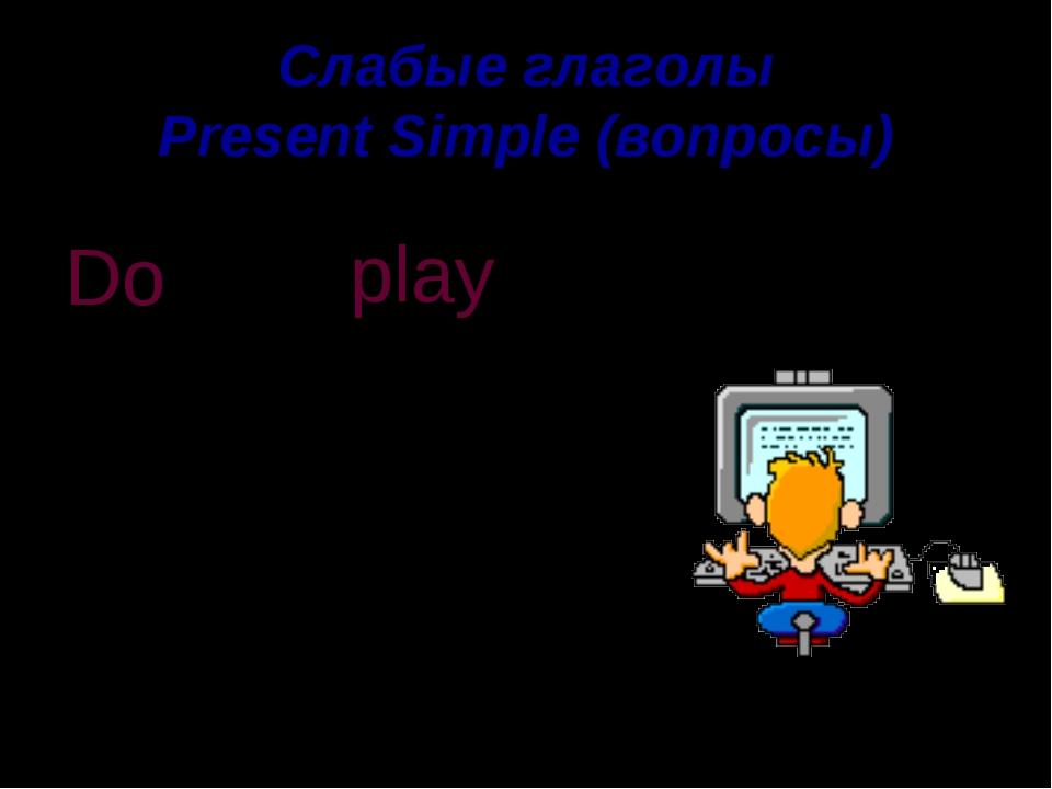 Слабые глаголы Present Simple (вопросы) computer games You play Do . ? you Do