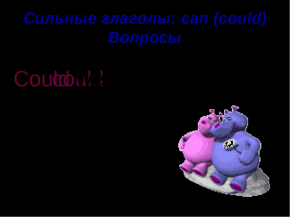 Сильные глаголы: can (could) Вопросы write We could . ? Could we