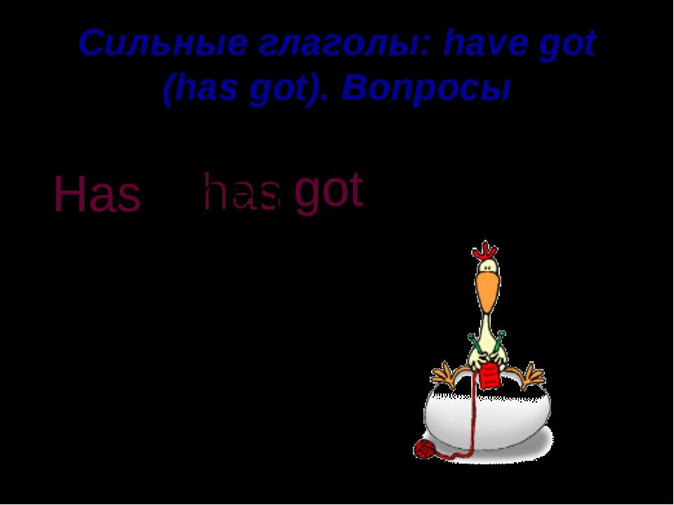 Сильные глаголы: have got (has got). Вопросы got an egg A hen has . Has a hen ?