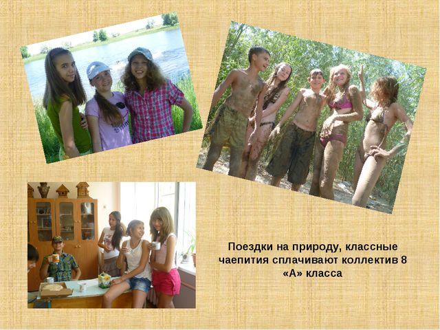 Поездки на природу, классные чаепития сплачивают коллектив 8 «А» класса