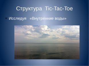 Структура Tic-Tac-Toe Исследуя «Внутренние воды»