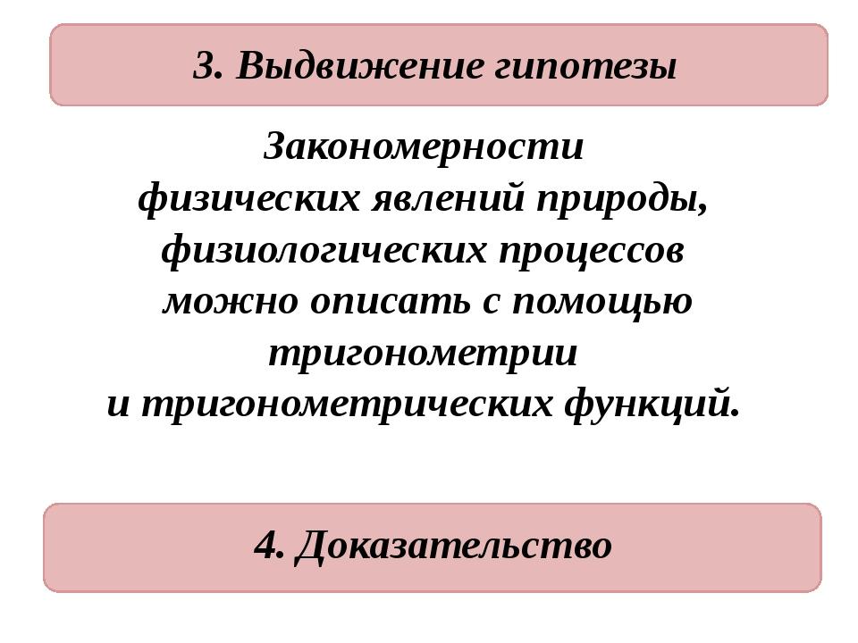 3. Выдвижение гипотезы Закономерности физических явлений природы, физиологич...