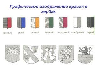 Графическое изображение красок в гербах