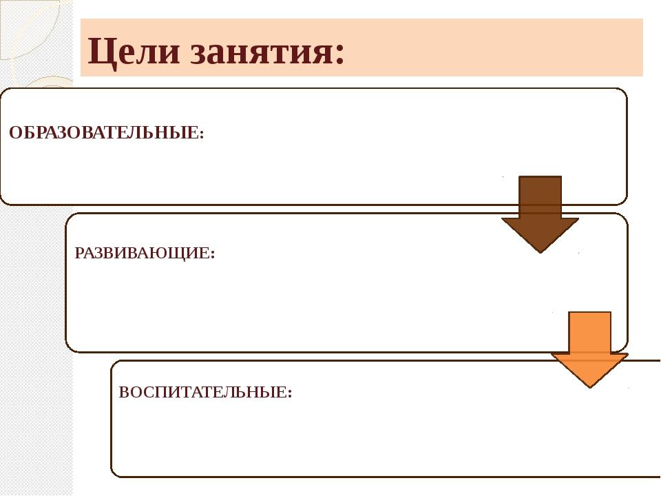 Цели занятия: