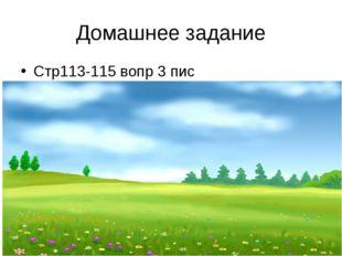 Домашнее задание Стр113-115 вопр 3 пис