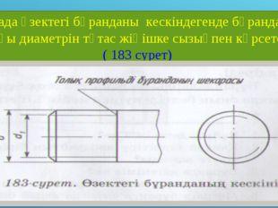 Тесіктегі бұранданың алдыңғы көріністе кескінделуіне бұранданың ішкі және сыр