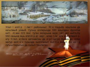 Усал җилләр Әлмәт районының Яңа Надыйр авылына да кагылмый узмый. Сугыш еллар