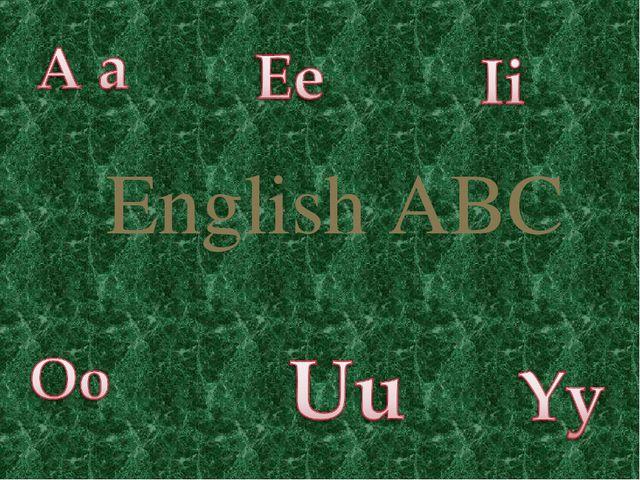 English ABC