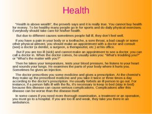 """Health """"Health is above wealth"""", the proverb says and it is really true. You"""