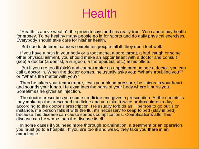 """Health """"Health is above wealth"""", the proverb says and it is really true. You..."""