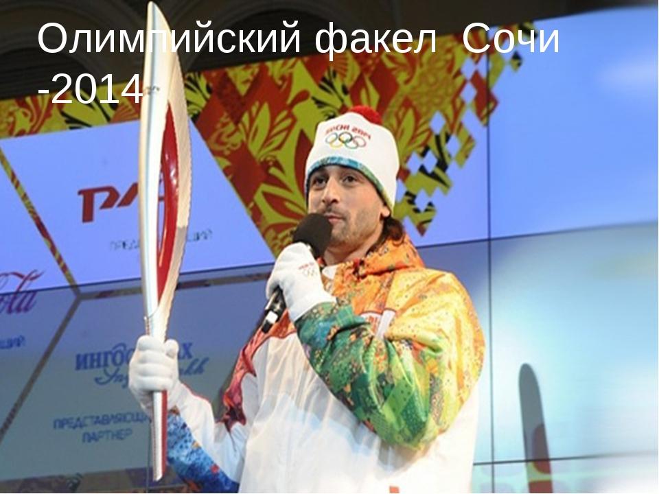 Олимпийский факел Сочи -2014