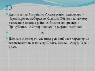 20 Единственный в районе России район чаеводства – Черноморское побережье Кав