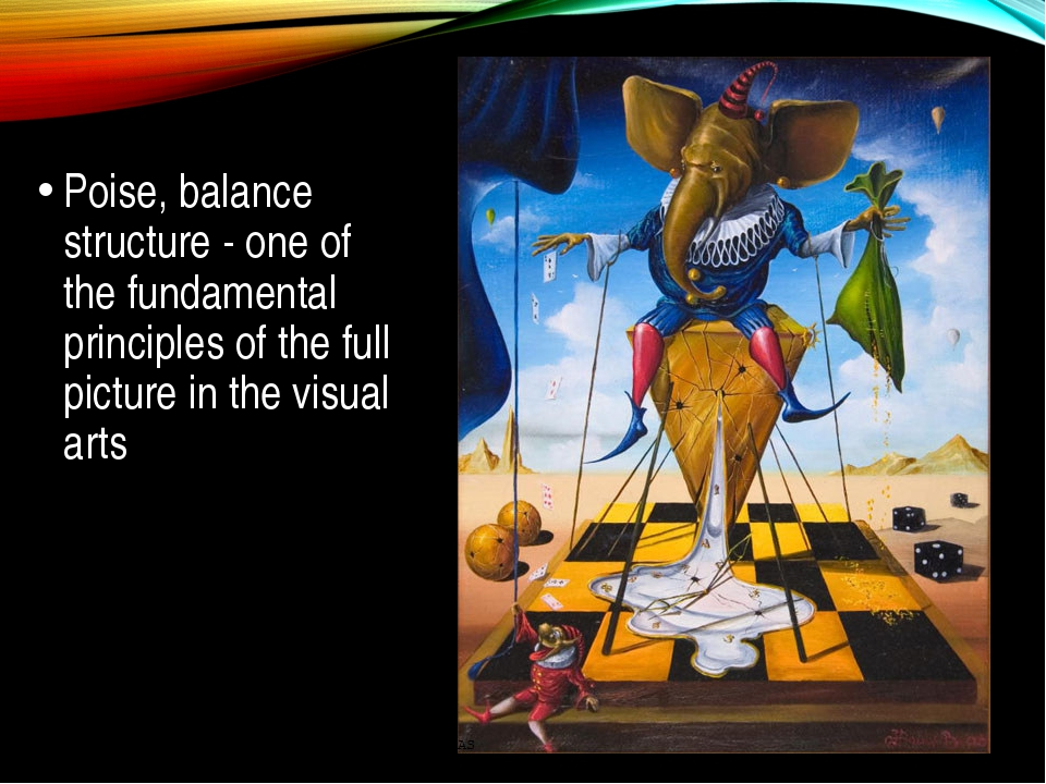 Poise, balance structure - one of the fundamental principles of the full pic...