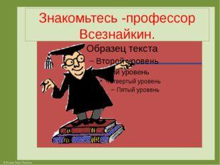 Знакомьтесь -профессор Всезнайкин. © Фокина Лидия Петровна