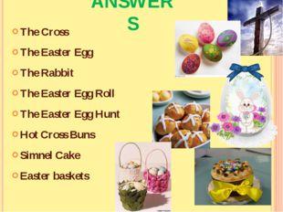 The Cross The Easter Egg The Rabbit The Easter Egg Roll The Easter Egg Hunt H