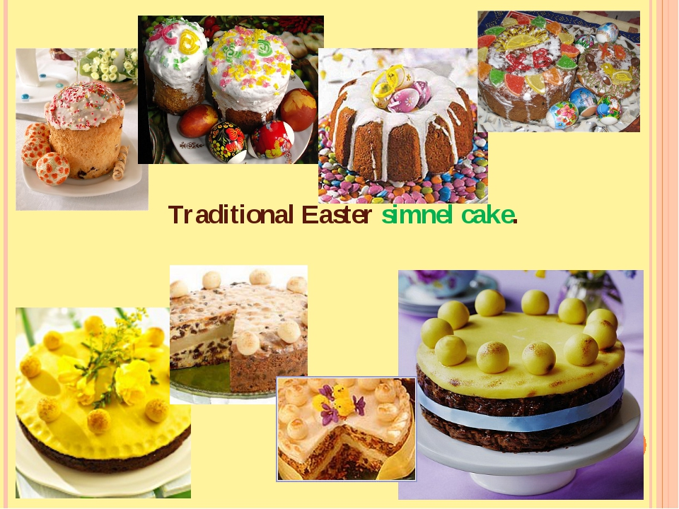 Traditional Easter simnel cake.