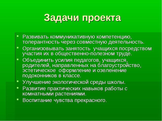 Задачи проекта Развивать коммуникативную компетенцию, толерантность через сов...