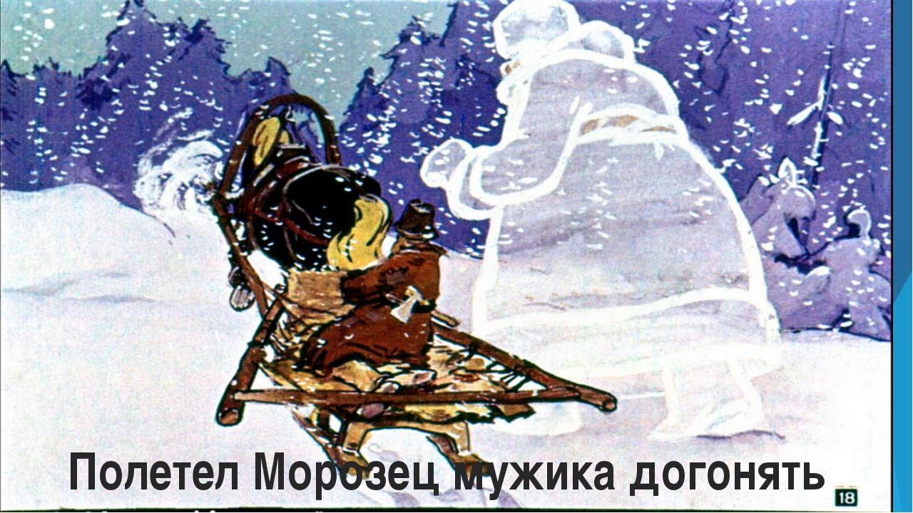 Полетел Морозец мужика догонять